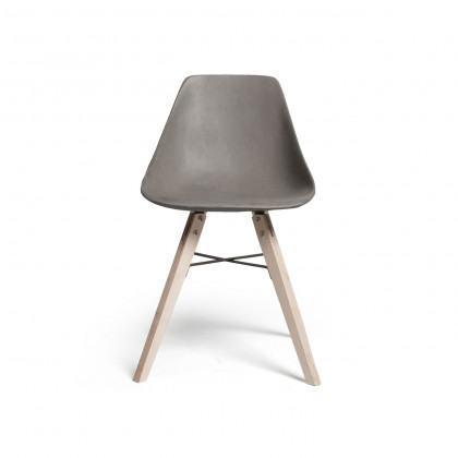 Lyon Beton Hauteville Concrete Chair - Plywood Legs