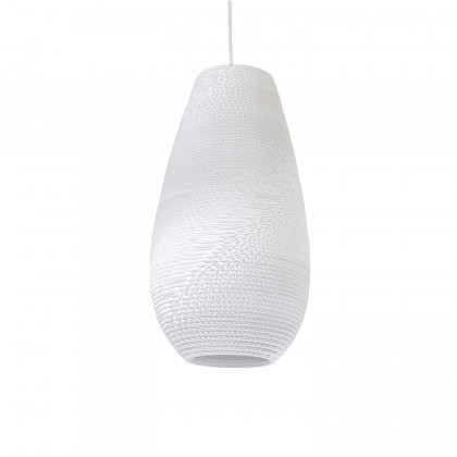Graypants White Drop Pendant Lamp 18 inch