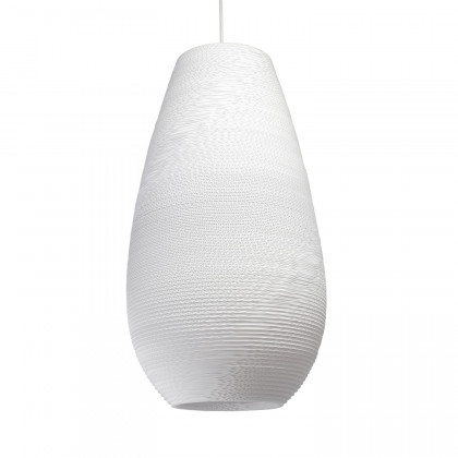 Graypants White Drop Pendant Lamp 26 inch