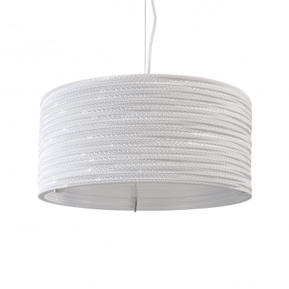 Graypants White Drum Pendant Light 18 inch