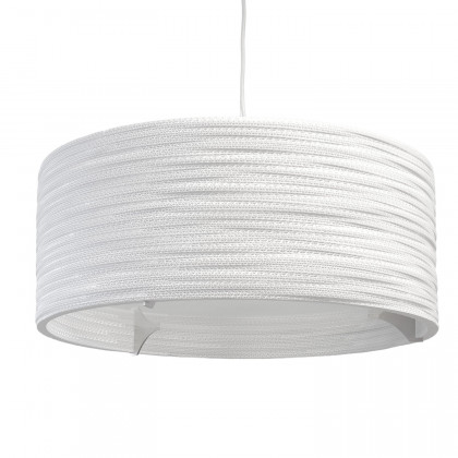 Graypants White Drum Pendant Lamp 24 inch