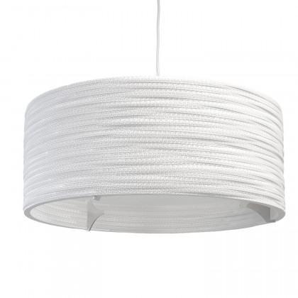 Graypants White Drum Pendant Lamp 24 inch