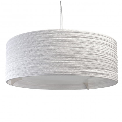 Graypants White Drum Pendant Lamp 36 inch