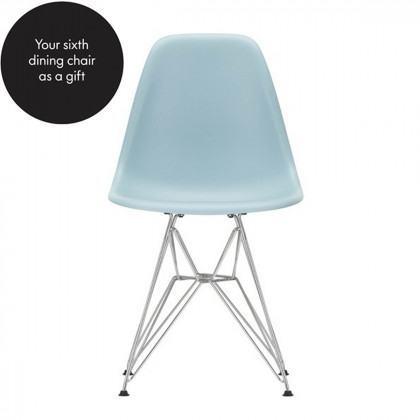 Vitra DSR Eames Plastic Side Chair - Chrome Base