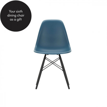 Vitra Eames Plastic Side Chair DSW - Wood and Wire Base