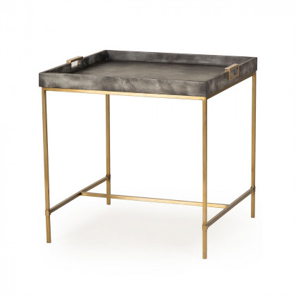 Andrew Martin Art Deco Brass Edith Side Table