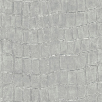 Elitis Big Croco Wallpaper-VP423 04 - Silver (3 ROLLS from a batch)