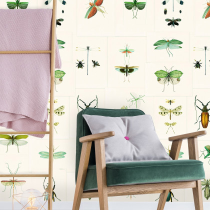 Mind The Gap Entomology Wallpaper - Green