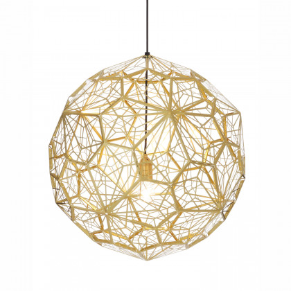 Tom Dixon Etch Web Pendant - Brass