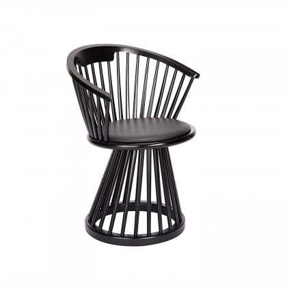 Tom Dixon Fan Dining Chair - Black