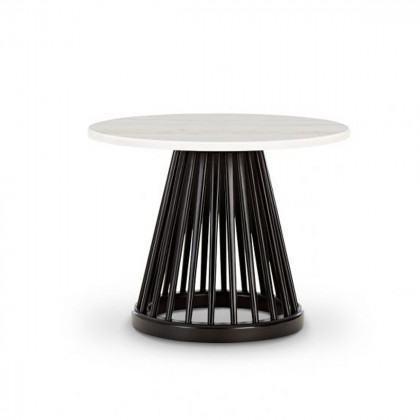 Tom Dixon Fan Marble Side Table Black Birch Base
