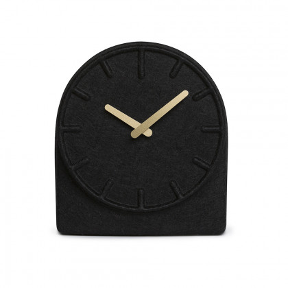 Leff Amsterdam Felt 2 Mantle Clock - Black