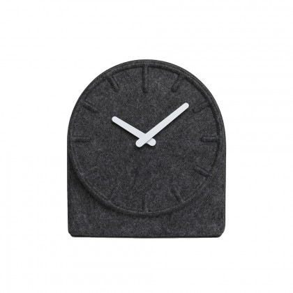 Leff Amsterdam Felt 2 Mantle Clock - Grey