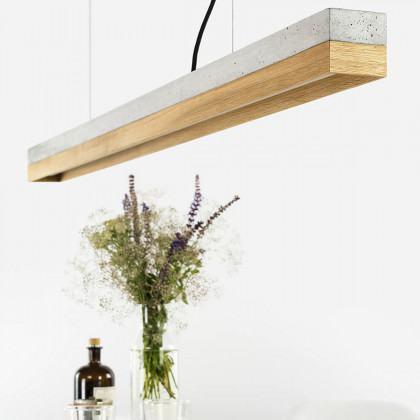 GANTlights C2 Light Concrete Pendant Light- Oak