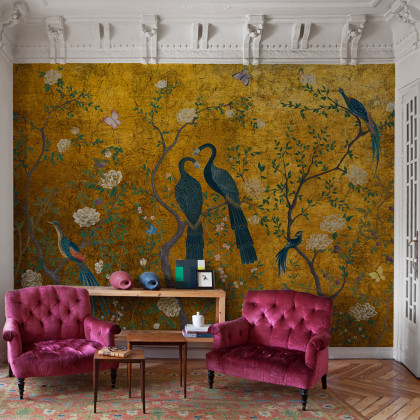 Coordonne Core Edo Mural Wallpaper - Clearance Designs - Gold (Up To 50% Off RRP)