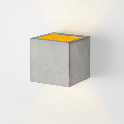 GANT B9 Square Wall Lamp - Light Concrete