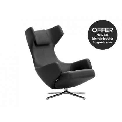 Vitra Grand Repos Lounge Chair - Leather