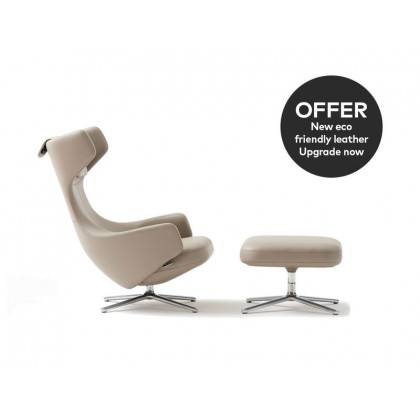 Vitra Grand Repos Lounge Chair & Ottoman - Leather