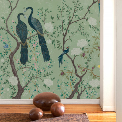 Coordonne Core Edo Mural Wallpaper - Clearance Designs - Green (50% Off RRP)-WxH - 720 x 300cm