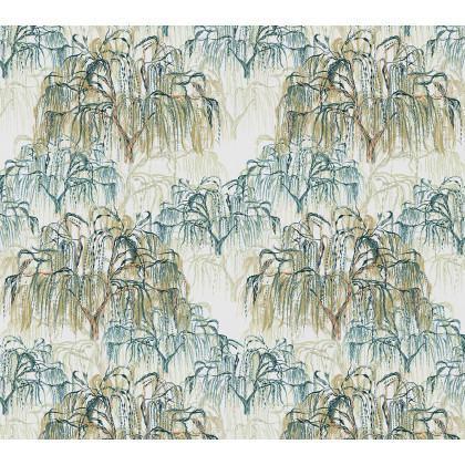 green Surfacephilia Willow Wallpaper