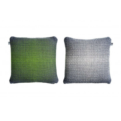 Simon Key Bertman Textile Design & Art -2-Sided Gradient Cushion Cover - Green/Grey