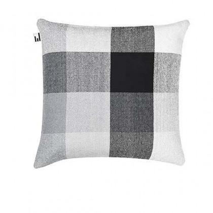 Simon Key Bertman Textile Design & Art - Gradient and Squares Cushion Cover - Grey