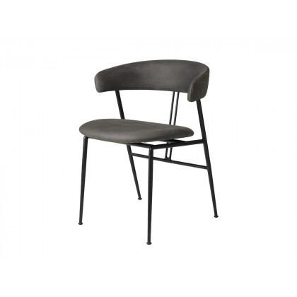 Gubi Violin Dining Chair - Fully Upholstered - Leather