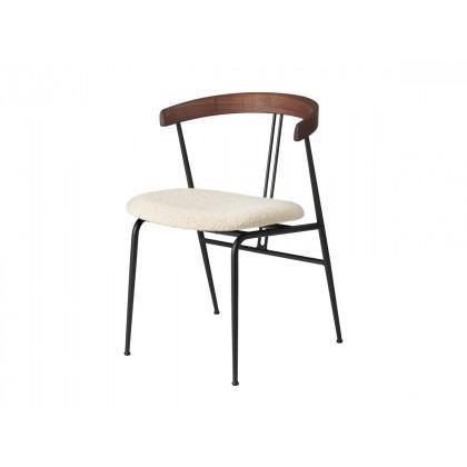 Gubi Violin Dining Chair - Seat Upholstered