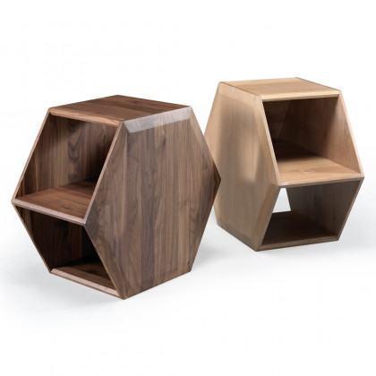 Wewood Hexa Walnut Bedside / Coffee Table