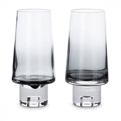 Tom Dixon Tank High Ball Glasses x2 - Black