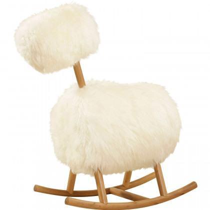 Innermost HIHO Sheepskin Rocking Chair