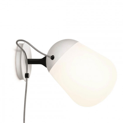Vertigo Bird Hippo Wall Plug In Lamp - White