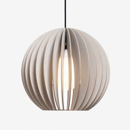 Iumi Aion Wood Pendant Light - Grey (Grey Cable)