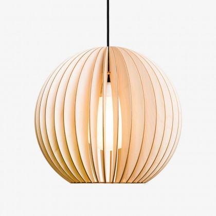 Iumi Aion Wood Pendant Light - Large - White Cable