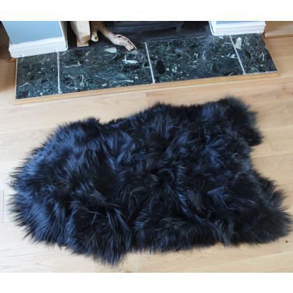 Icelandic Sheepskin Rug / Hide - Black