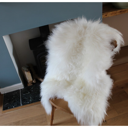 Icelandic Sheepskin Rug / Hide - White