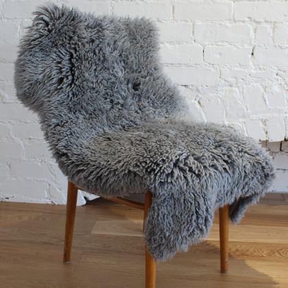 Curly Sheepskin Rug - Grey