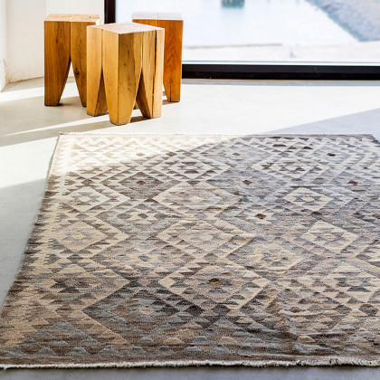 Massimo Kelim Rug - Natural Grey