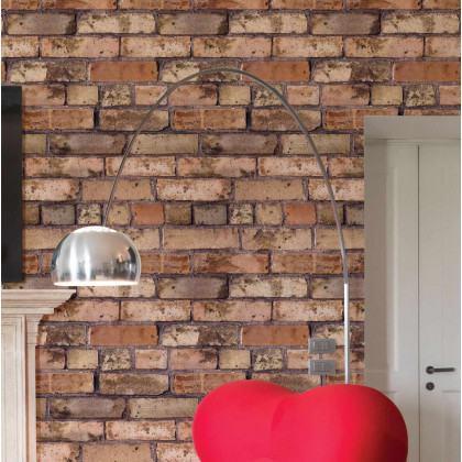 emra Wallpapers Old Brown Bricks Wallpaper