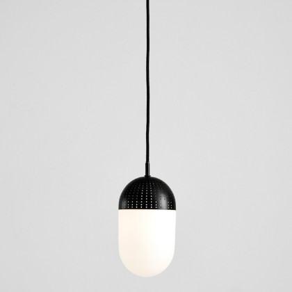 Woud Dot Pendant - Large-Black