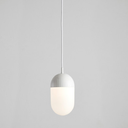 Woud Dot Pendant - Large-White