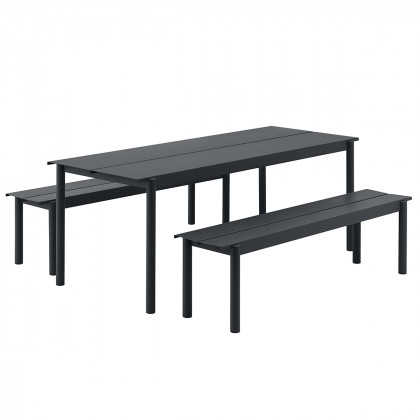 Muuto Linear Steel Outdoor Dining Set