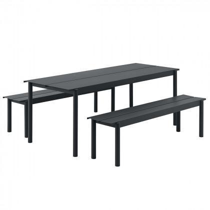 Muuto Linear Steel Outdoor Dining Set