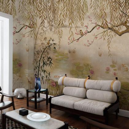 Coordonne Lotus Mural Wallpaper - Clearance Design - 7900041 (50% Off RRP) - WxH - 264x222cm