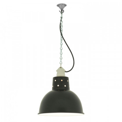 Original BTC Spun Reflecter Pendant Light with Suspension Lampholder