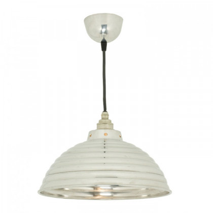 Original BTC Spun Ripple Pendant Light with Cord Grip Lampholder