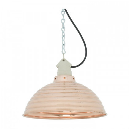 Original BTC Spun Ripple Pendant Light with Suspension Lampholder