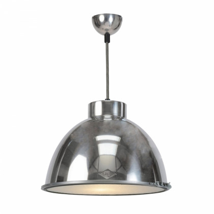 Original BTC Giant 1 Pendant - Natural Aluminium with Wired Glass
