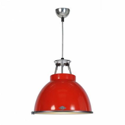 Original BTC Titan Size 1 Pendant Lamp with Etched Glass