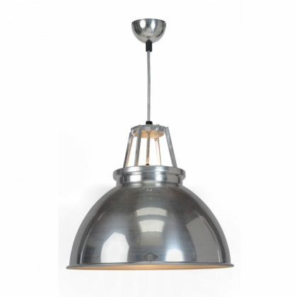 Original BTC Titan Size 3 Pendant Lamp with Etched Glass -Natural Aluminium with Etched Glass